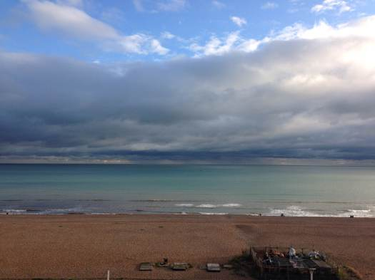 The sea at Brighton in September