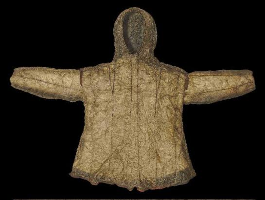 Seal Intestine Raincoat. Pitt Rivers museum Oxford.