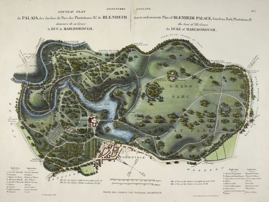 A_new_and_accurate_plan_of_Blenheim_Palace_-_L'Art_de_Créer_les_Jardins_(1835),_pl.1_-_BL